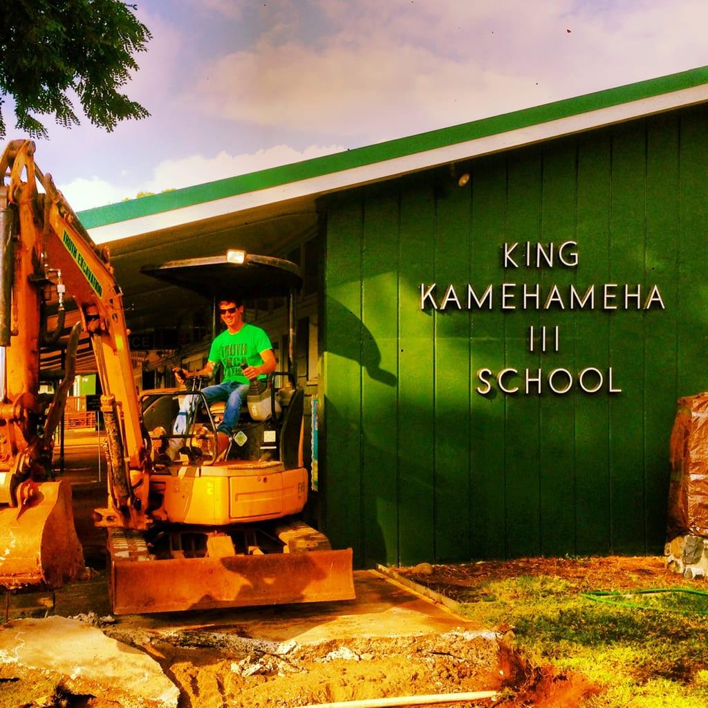King Kamehameha III School truth excvaation maui work portfolio picture