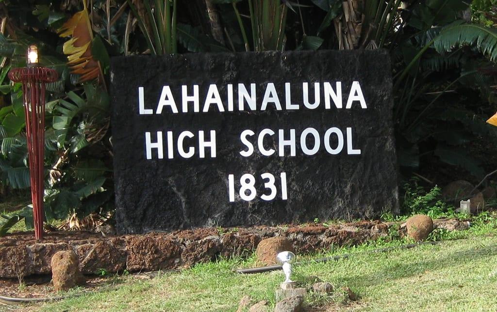 Lahainaluna high school truth excavation maui hawaii community work